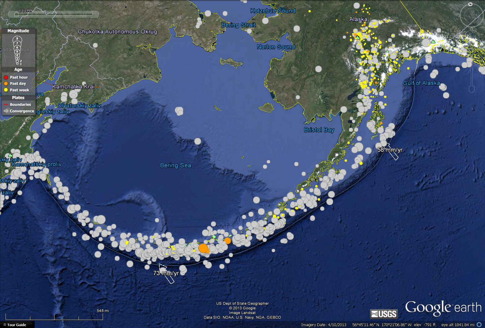 M=6.5 NW south Island