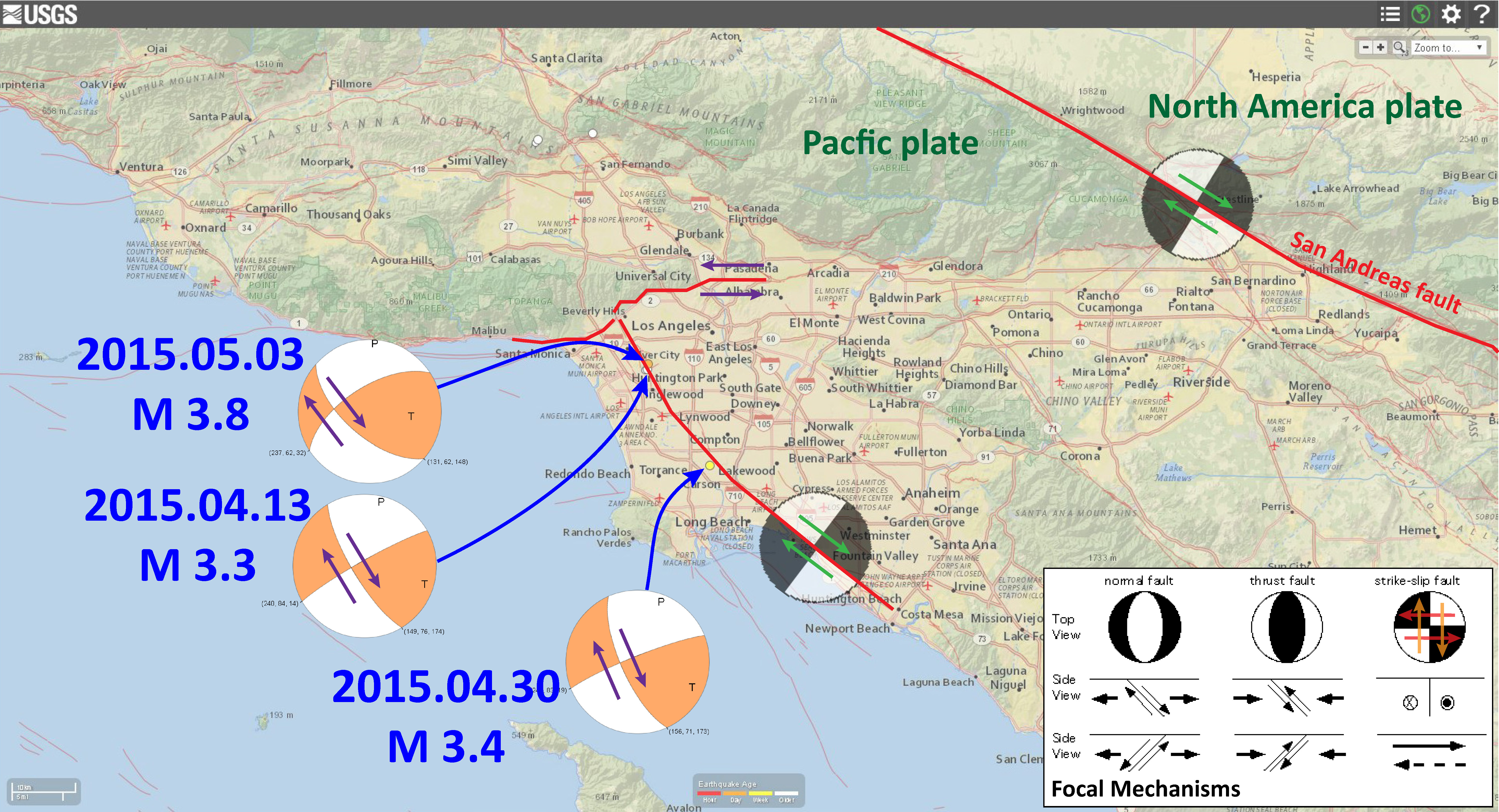 Earthquakes In Los Angeles Jay Patton Online - Los angeles fault zone map