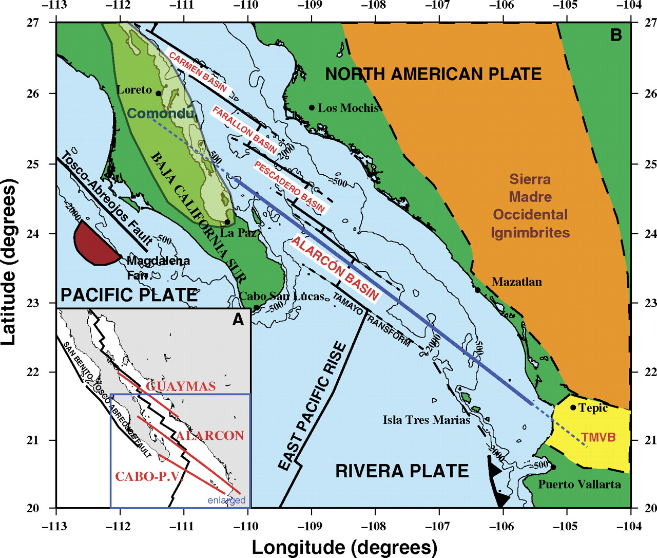 Gulf Of California Map.Gulf Of California Earthquakes First Post Jay Patton Online