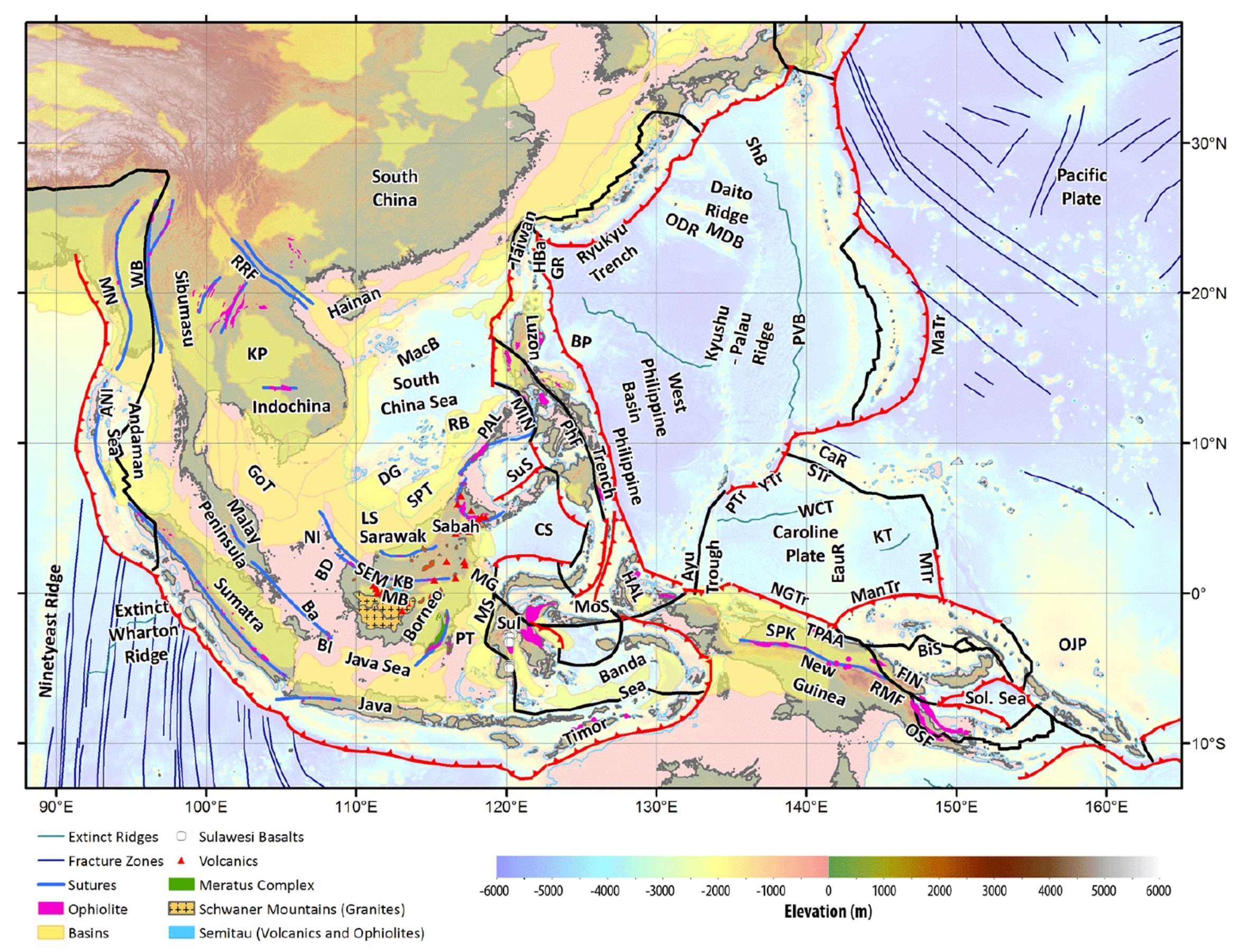 Earthquake report celebes sea jay patton online regional tectonic setting with plate boundaries morstransforms black subduction zones teethed red from bird 2003 and ophiolite belts representing gumiabroncs Image collections