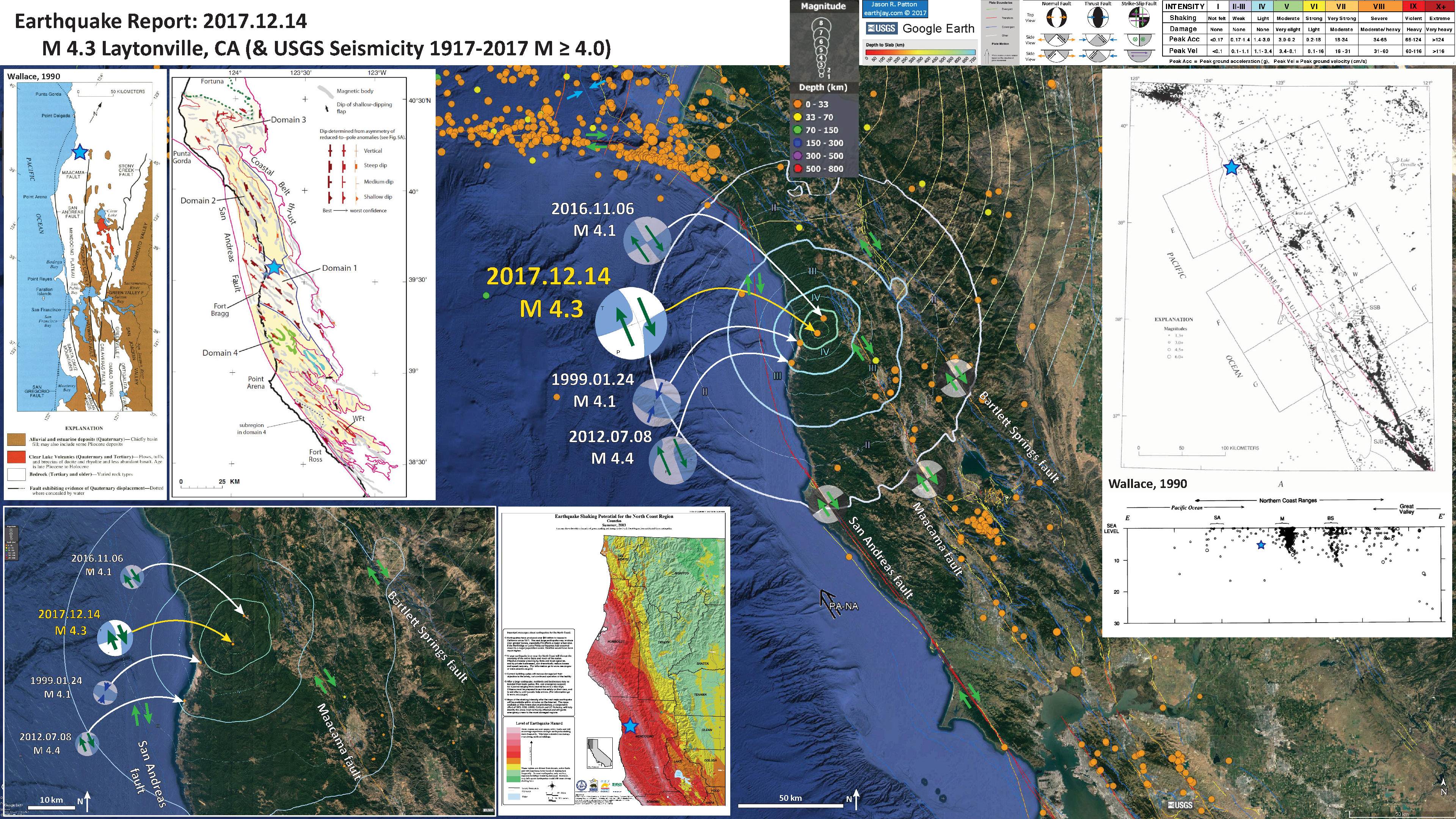 more can be found from the california geological survey here i place a blue star in the approximate location of todays earthquake