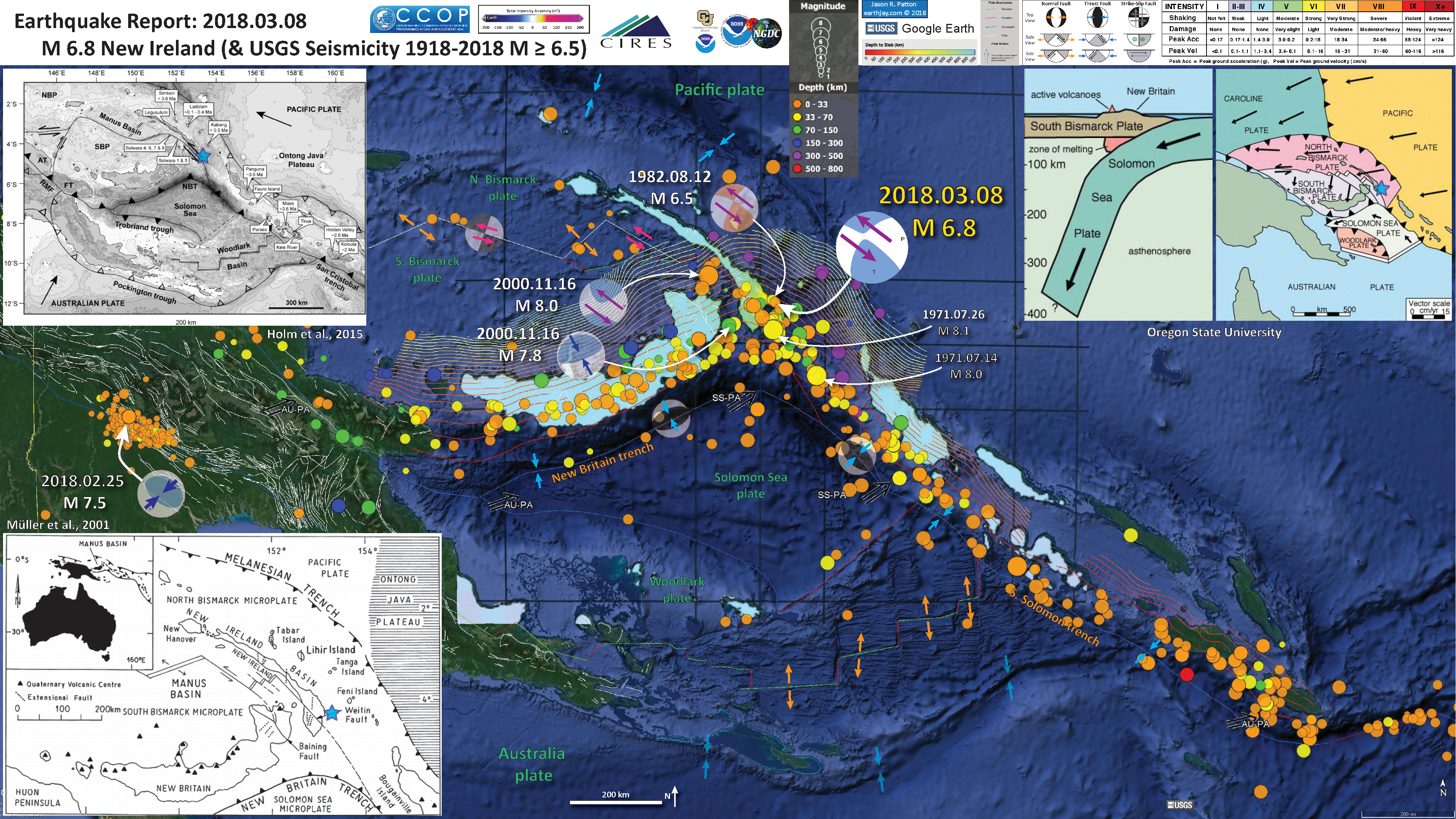 Earthquake Report New Ireland Jay Patton Online