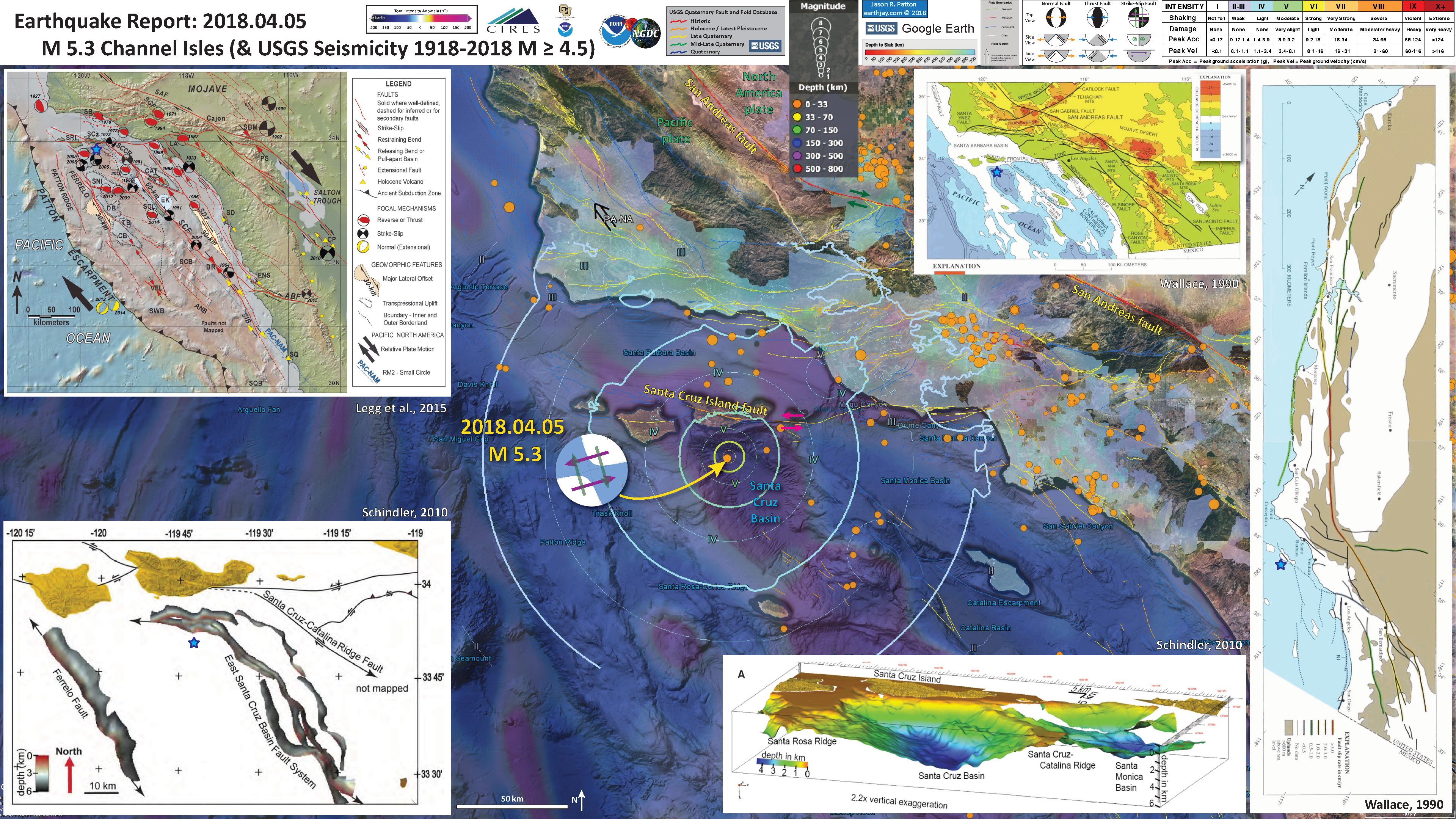 Usgs Earthquake Map San Francisco.Earthquake Report Channel Islands Jay Patton Online