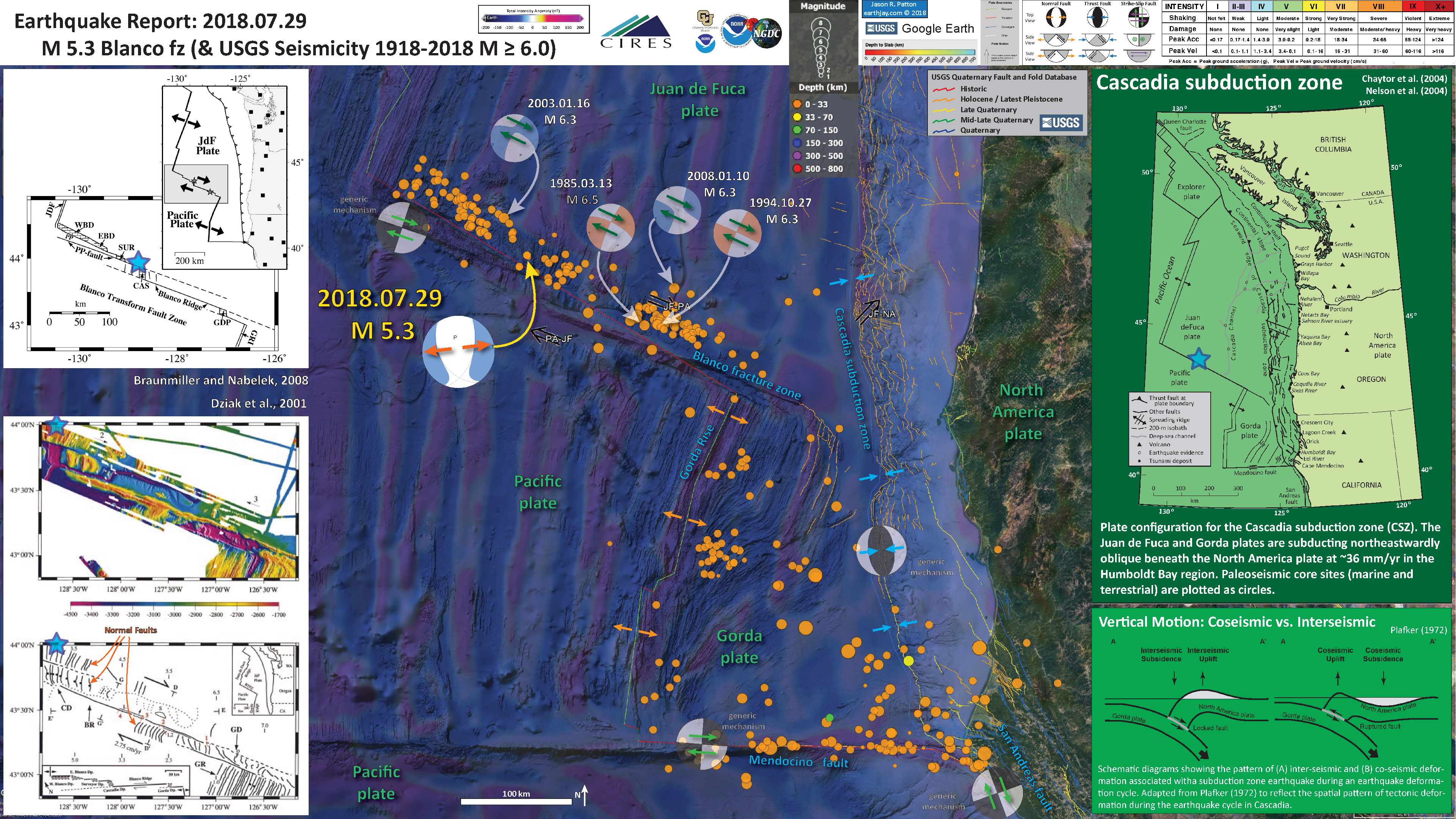Usgs Earthquake Map San Francisco.Earthquake Report Blanco Fracture Zone Jay Patton Online